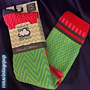 Bright 80s Patterns Fun Soft Upscale Socks